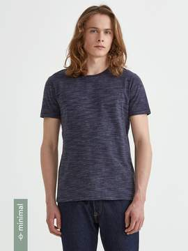 Frank and Oak Organic Cotton Crewneck T-Shirt in Dark Jeans Heather
