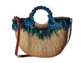 Sam Edelman Eliya Feather Straw Tote Tote Handbags