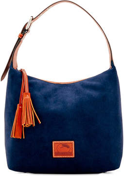 Dooney & Bourke Suede Paige Small Sac Hobo - AMBER - STYLE