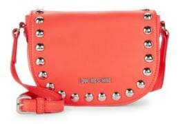 Love Moschino Faux Leather Studded Saddle Bag