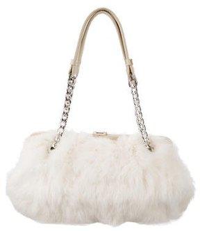 MICHAEL Michael Kors Leather-Trimmed Fur Shoulder Bag - NEUTRALS - STYLE