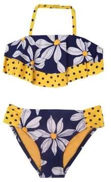 Hula Star Little Girl's Two-Piece Daisy Chain Bikini Set