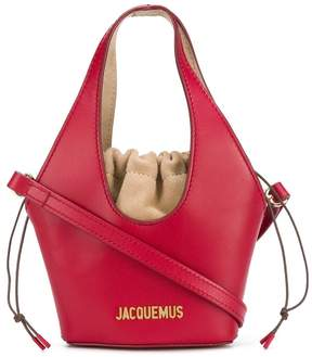Jacquemus Red Drawstring Mini Tote Bag