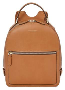 Aspinal of London Small Mount Street Backpack In Smooth Tan