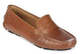 Saks Fifth Avenue Honeycomb Embossed Leather Penny Drivers