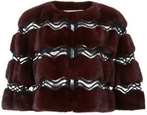 Carolina Herrera fur bolero jacket