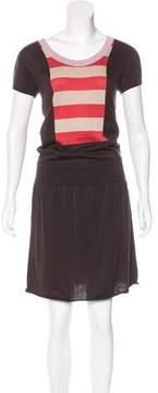 Cacharel Striped Pattern Midi Dress