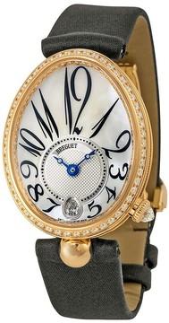 Breguet Reine de Naples Mother of Pearl Dial 18kt Rose Gold Black Ladies Diamond Watch 8918BR58864D00D