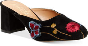 Nanette Lepore Nanette by Peggy Embroidered Mules Women's Shoes