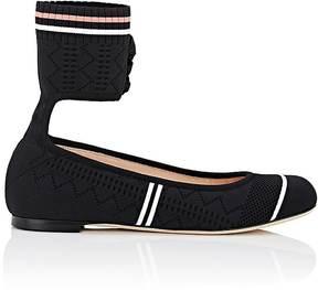 Fendi Women's Rockoko Pointelle Ankle-Cuff Flats
