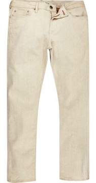 River Island Mens White Dylan slim fit jeans