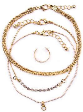 Arizona Womens 4-pc. White Jewelry Set