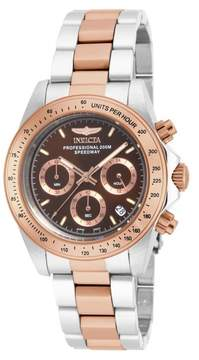 Invicta Speedway Chronograph Brown Dial Two-tone Men's Watch