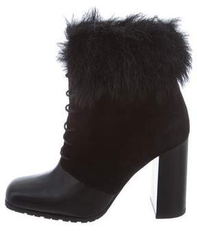Max Mara Suede Lace-Up Booties