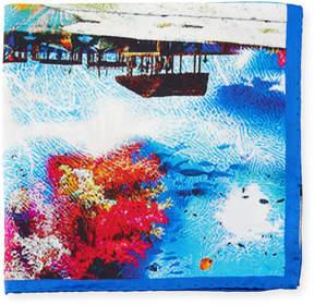 Bugatchi Tropical-Print Silk Pocket Square