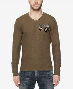 Buffalo David Bitton Men's Frayed-Edge Patch T-Shirt