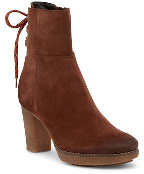 Manas Design Leather Lace-Up Suede Back Boot