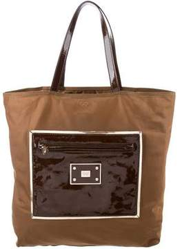 Anya Hindmarch Patent Leather-Trimmed Tote