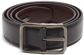 Lanvin Dish Axis reversible leather belt