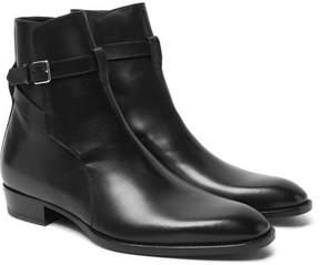 Saint Laurent Leather Jodhpur Boots