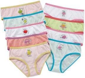 Maidenform 9 Pair Brief Panty Girls