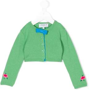 Simonetta cardigan with rose embroidered cuffs
