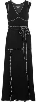 Moschino Belted Crepe Gown - Black