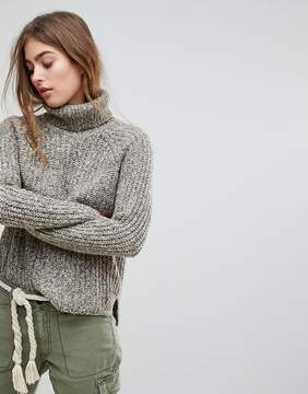 Abercrombie & Fitch High Neck Knit Sweater