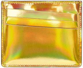 Maison Margiela Gold and Silver Metallic Bicolor Card Holder