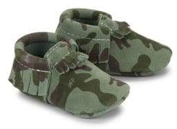 Freshly Picked Baby's Classic Core Camouflage Leather Moccasins