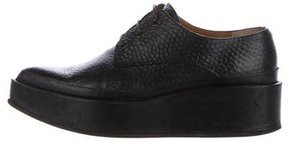 Jil Sander Platform Leather Oxfords