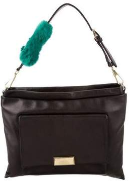 3.1 Phillip Lim Fur-Accented Leather Shoulder Bag