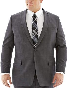 Claiborne Charcoal Herringbone Suit Jacket-Big & Tall