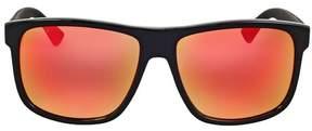 Gucci Red Mirror Square Sunglasses