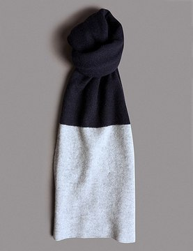 Marks and Spencer Pure Cashmere Colour Block Scarf