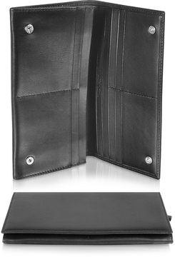 Giorgio Fedon 1919 Classica Collection - Black Calfskin Continental Wallet