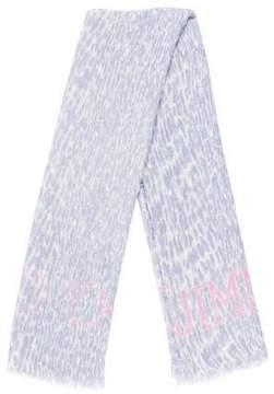 Jimmy Choo Printed Wool-Blend Scarf