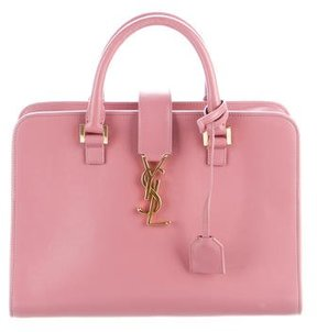 Saint Laurent Small Monogram Cabas Satchel - PINK - STYLE