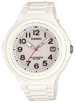 Casio Women's Solar-Powered Strap Watch Glossy White (LXS700H-7BV