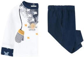 3 Pommes Graphic T-shirt and velvet pants