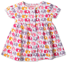 Zutano Pink Ella's Elephants Dress - Infant