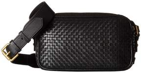 Cole Haan Woven Leather Zoe Camera Bag