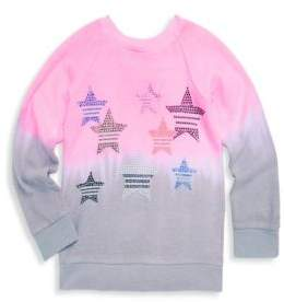 Butter Shoes Girl's Dip Dye Sweater