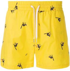 Band Of Outsiders angry cat track shorts