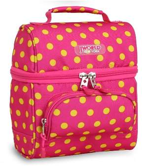JWorld J World Corey Lunch Bag - Pink Buttons
