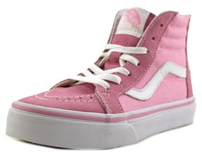 Vans Sk8-hi Zip Round Toe Canvas Sneakers.