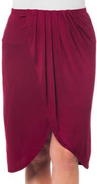 Bellino Burgundy Tulip Skirt - Plus