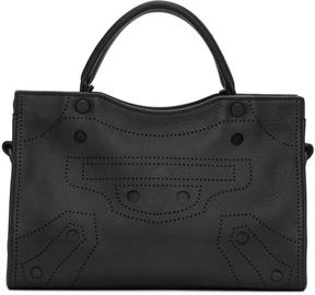 Balenciaga Black XS Blackout City AJ Bag
