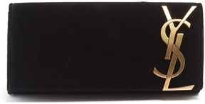 Saint Laurent Smoking velvet clutch - BLACK - STYLE