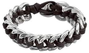 Uno de 50 Seduce Me Interlocked Leather & Chain Bracelet